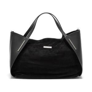 Černá kožená kabelka Mangotti Bella