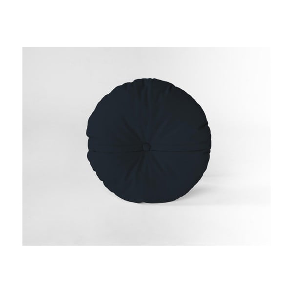 Pernă decorativă rotundă Velvet Atelier Blue Navy, ⌀ 45 cm