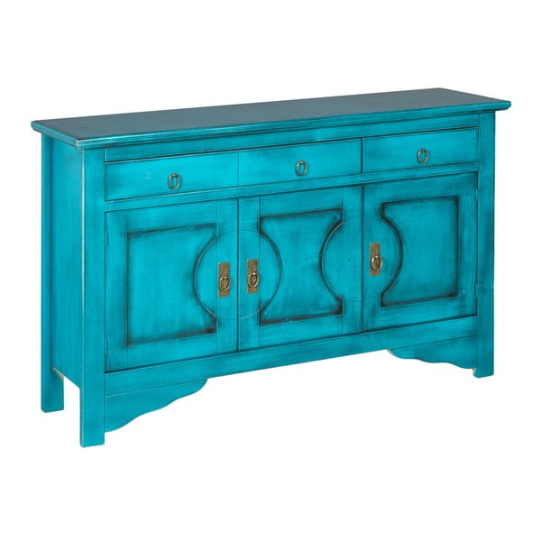 Niebieska komoda Evergreen House Credenza