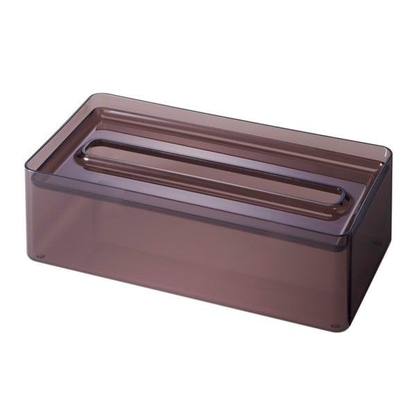 Transparentní černý box na papírové kapesníky YAMAZAKI Lux