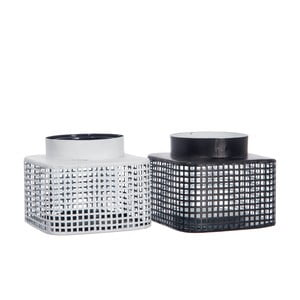 Sada 2 luceren Grid Black and White