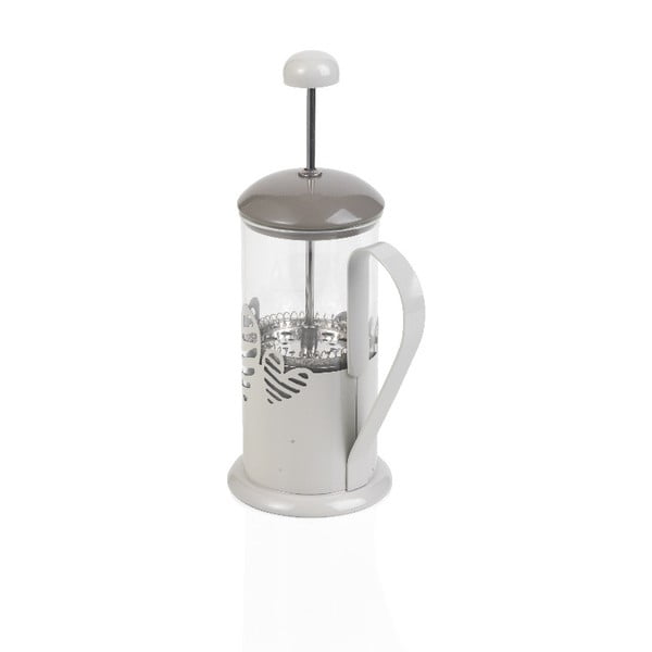 Biały french Press Brandani Batticuore, 350 ml