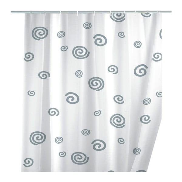 Perdea duș Wenko Snail, 180 x 200 cm