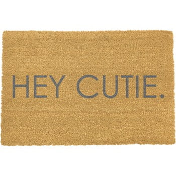 Covoraș intrare Artsy Doormats Hey Cutie, 40 x 60 cm, gri imagine