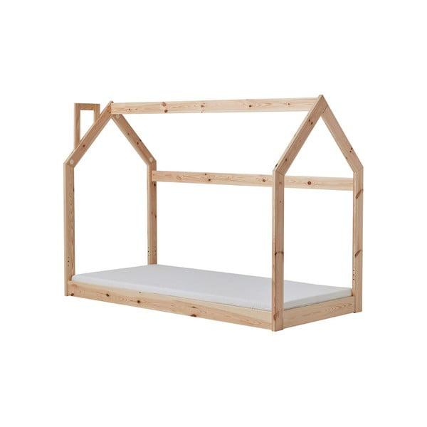 Dětská dřevěná postel ve tvaru domečku Pinio House, 206 x 150 cm