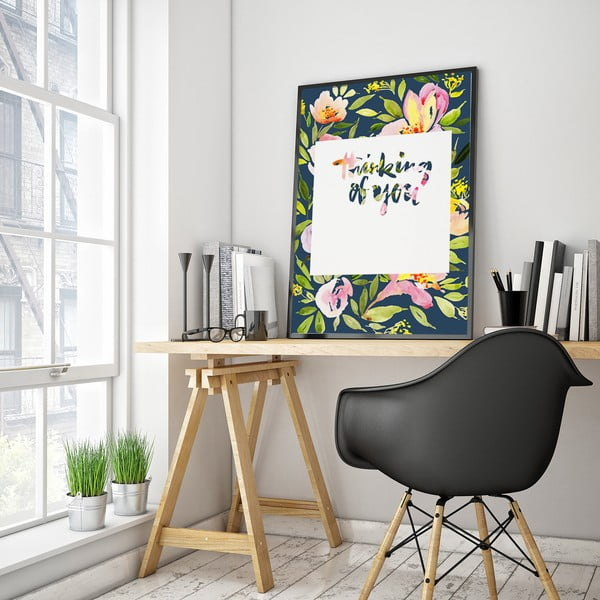 Plakát s květinami Thinking Of You, 30 x 40 cm