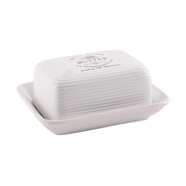 Biela keramická nádoba na maslo Orion Sweet Home