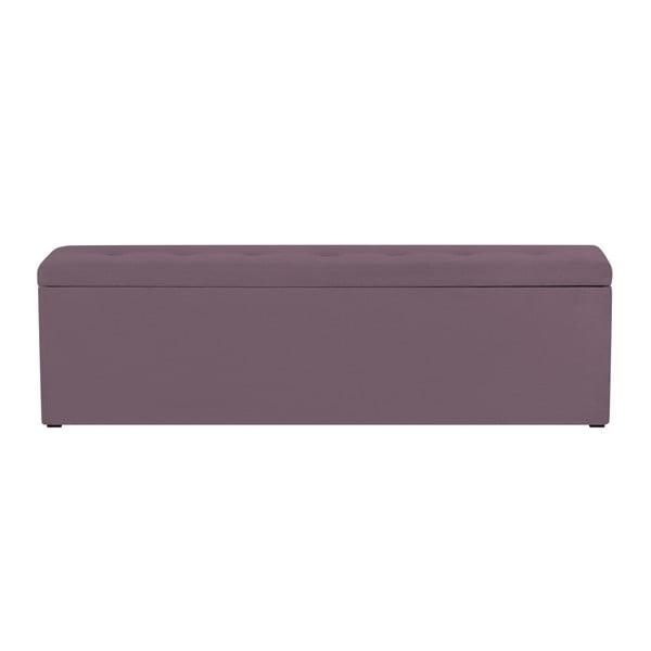 Fialvoý otoman s úložným prostorem Windsor & Co Sofas Astro, , 140 x 47 cm