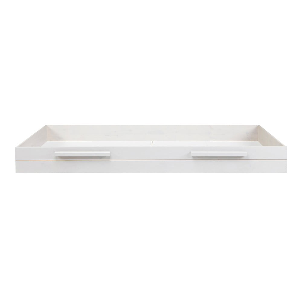 Bílá spodní zásuvka pro postel De Eekhoorn Dennis, 90 x 200 cm