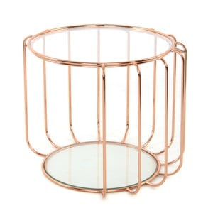 Odkládací stolek v růžovozlaté barvě 360 Living Dana, ⌀ 50 cm