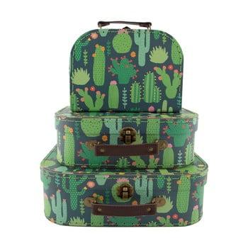 Set 3 valijoare pentru copii Sass & Belle Cactus de la Sass & Belle