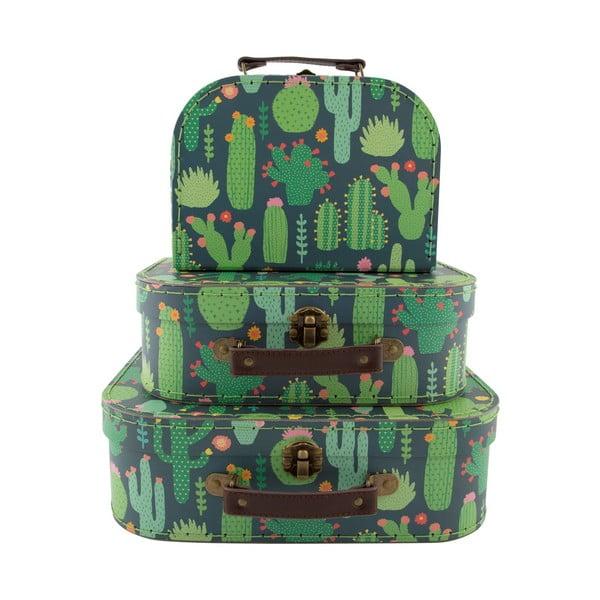 Set 3 valijoare pentru copii Sass & Belle Cactus