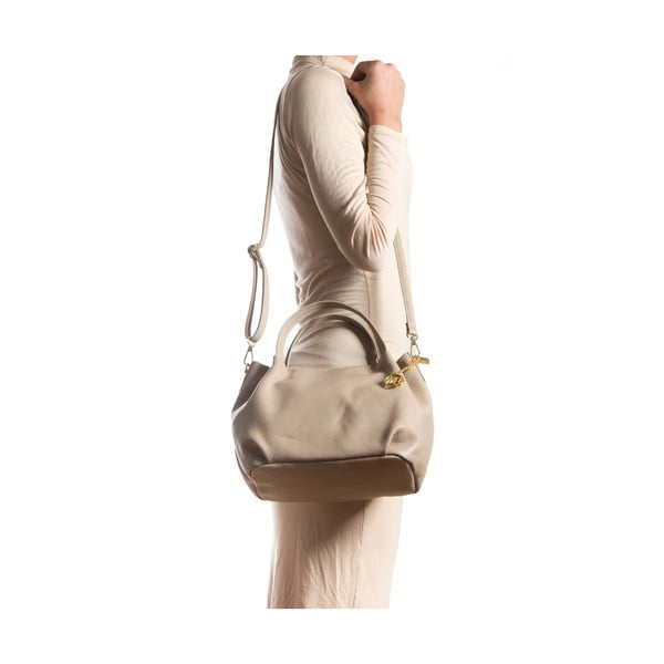 Kožená kabelka Giada, šedohnědá