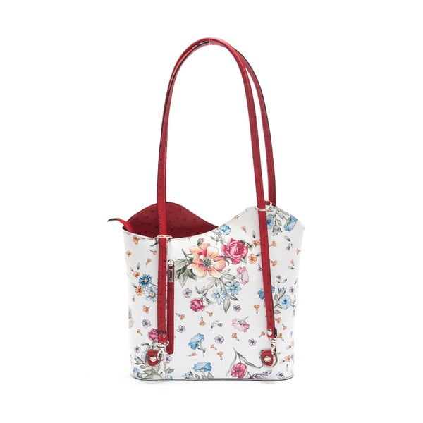 Kožená kabelka Mangotti 902, červená