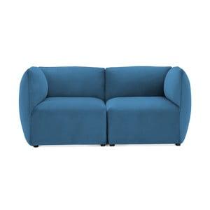 Modrá dvoumístná modulová pohovka Vivonita Velvet Cube