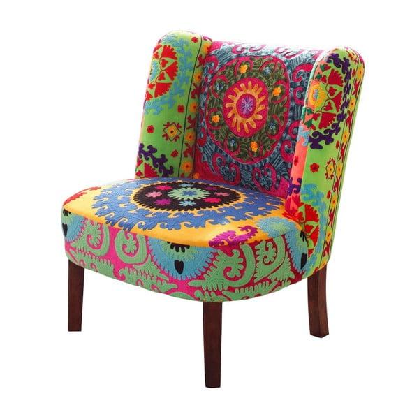 Johnson mintás fotel mangófa lábakkal - Støraa