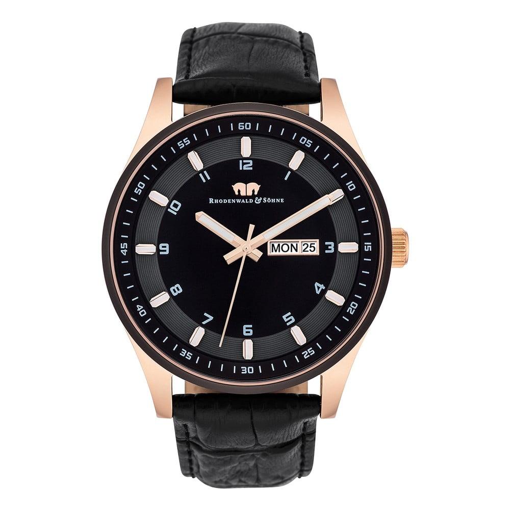 Černé pánské hodinky Rhodenwald & Söhne Couragian