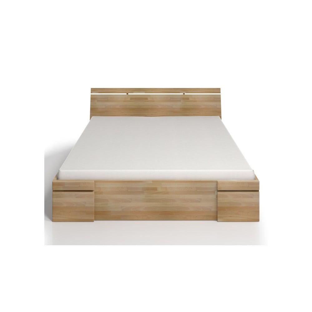 Dvoulůžková postel z bukového dřeva se zásuvkou SKANDICA Sparta Maxi, 140x200cm