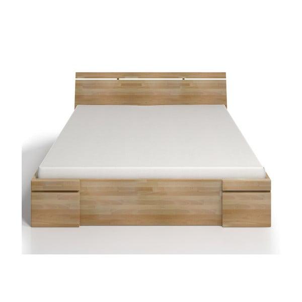 Dvoulůžková postel z bukového dřeva se zásuvkou SKANDICA Sparta Maxi, 200x200cm