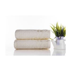 Sada 2ks ručníků Kumsal Ecru, 50x90 cm