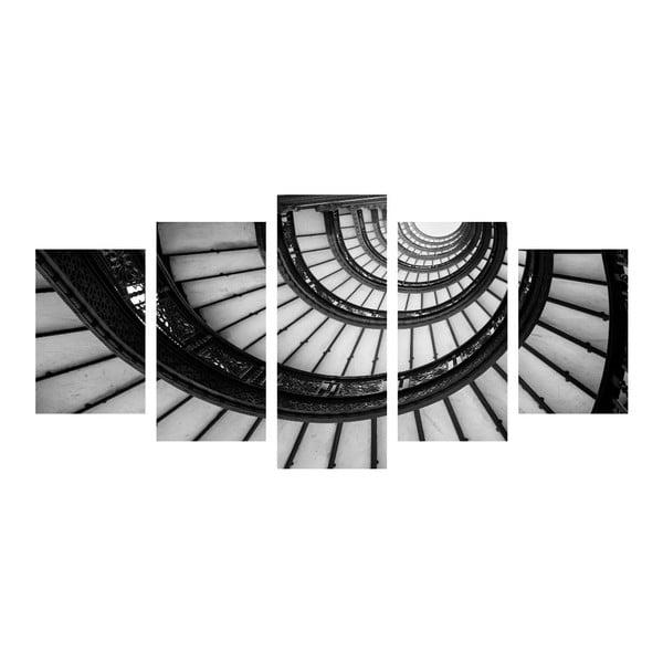 Vícedílný obraz Black&White Stairs