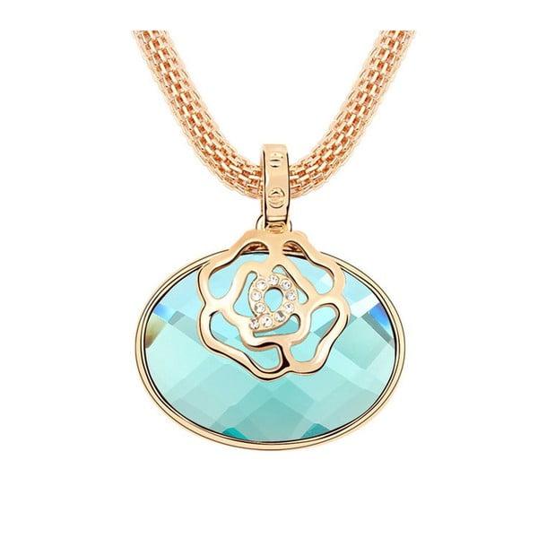 Náhrdelník Swarovski Elements Rose Blue