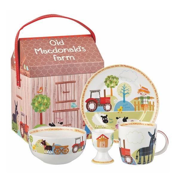 Dětský jídelní set z kostního porcelánu Churchill China Old MacDonald