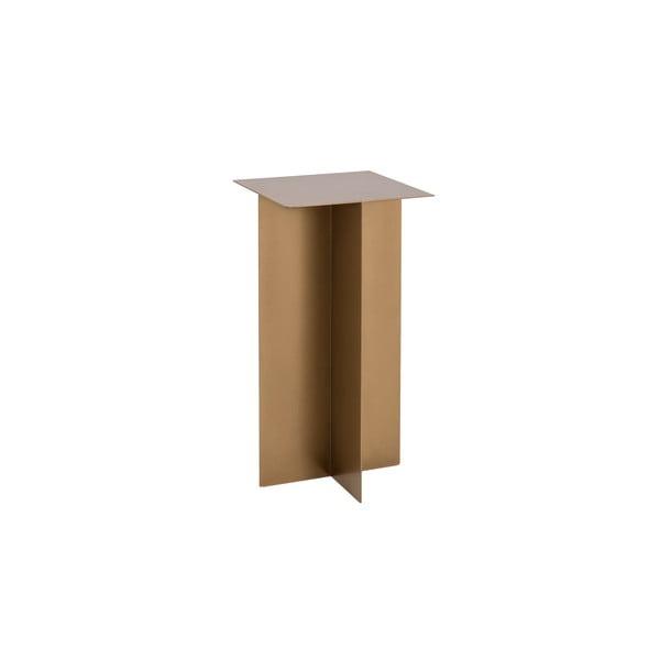 Konferenčný kovový stôl v zlatej farbe Custom Form Oli, ⌀ 30 cm