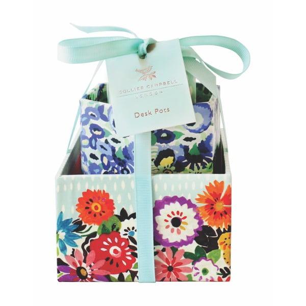 Zestaw 3 pudełek Portico Designs Bleu Floral