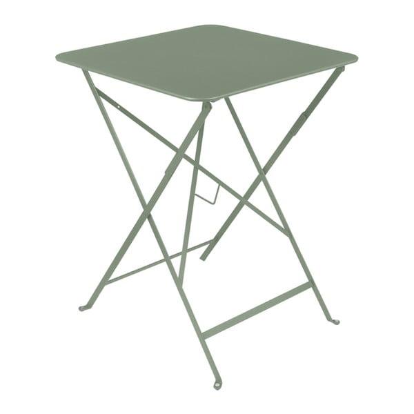 Šedozelený zahradní stolek Fermob Bistro, 57 x 57 cm