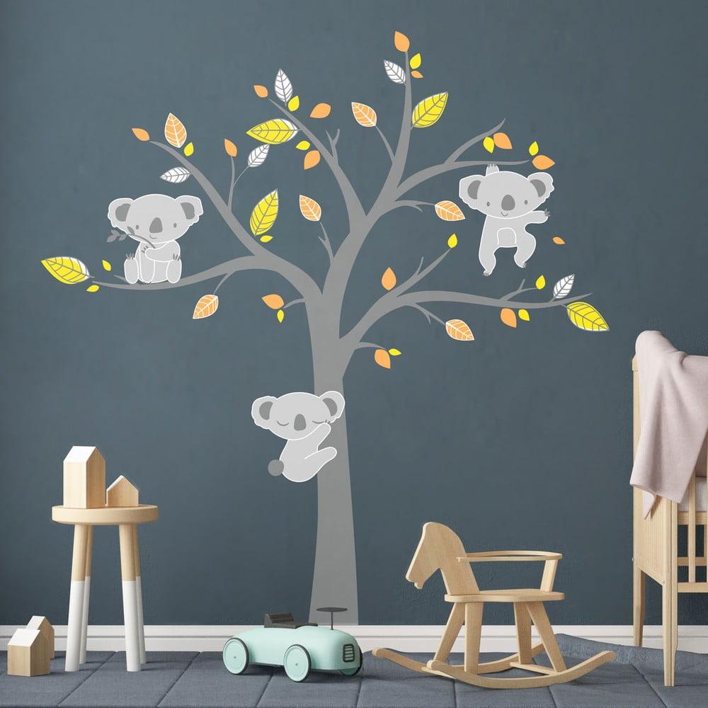 Dětské samolepky na zeď Ambiance Koala Autumn
