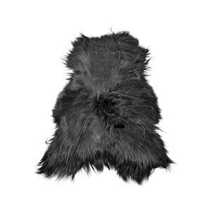 Černá ovčí kožešina s dlouhým chlupem Arctic Fur Ptelja, 100 x 55 cm