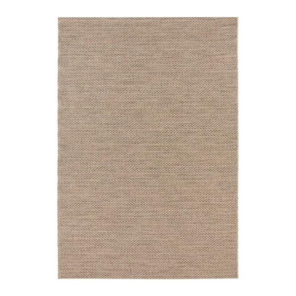 Hnědý koberec vhodný i na ven Elle Decor Brave Caen, 80 x 150 cm