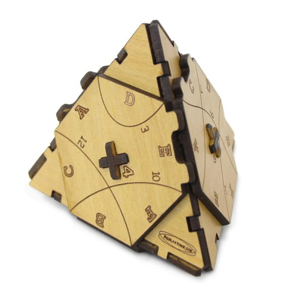 Puzzle din lemn RecentToys Tetraturn