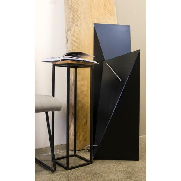 Odkládací stolek Side Black, 22x22x72 cm