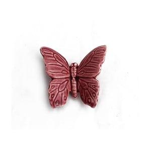 Keramický motýl k zavěšení 6 ks, fialový