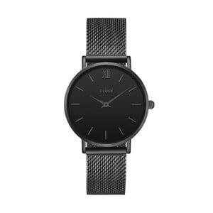 Dámské černé hodinky z nerezové oceli Cluse Minuit