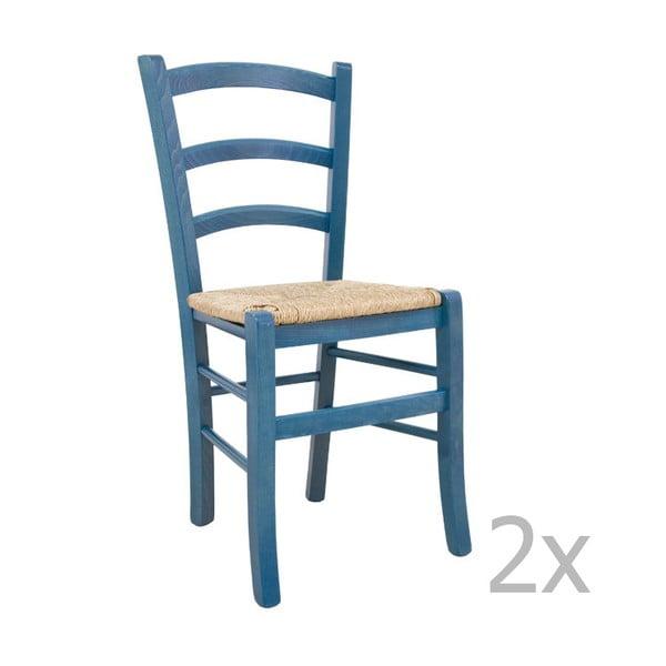 Sada 2 židlí Castagnetti Lavagna, modrá