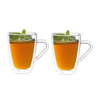 Set 2 pahare cu pereți dubli pentru ceai Bredemeijer, 320 ml de la Bredemeijer