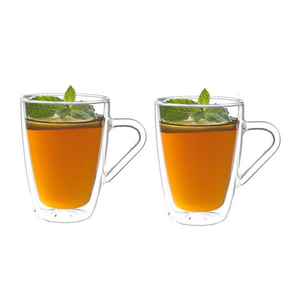 Set 2 pahare cu pereți dubli pentru ceai Bredemeijer, 320 ml