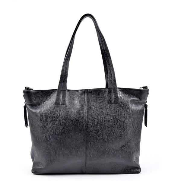Černá kožená kabelka Roberta M Awero