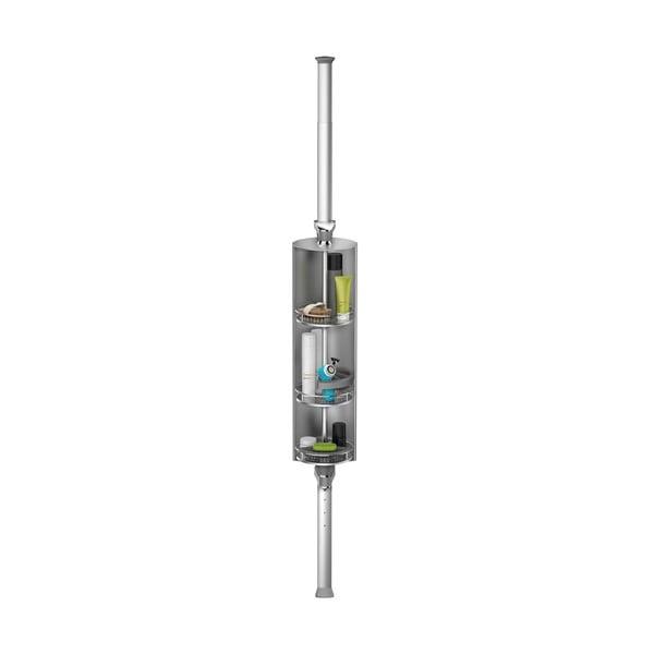 Nastavitelná otočná tyč s poličkami do sprchy Spin Cabinet