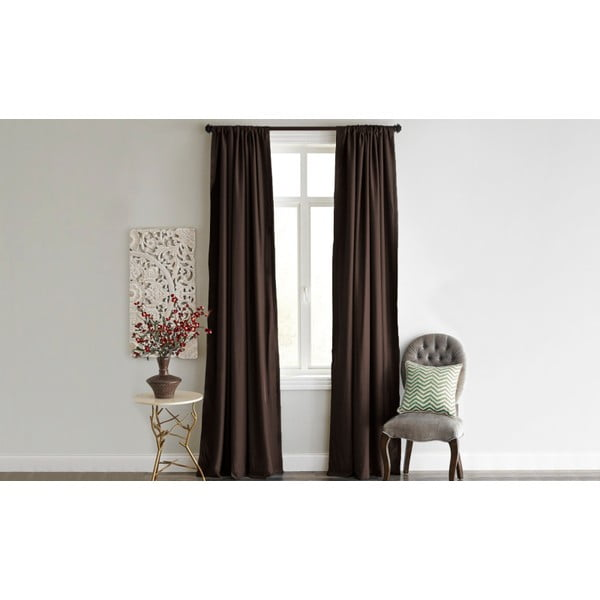 Ciemnobrązowa zasłona Home De Bleu Blackout Curtain, 140x240cm