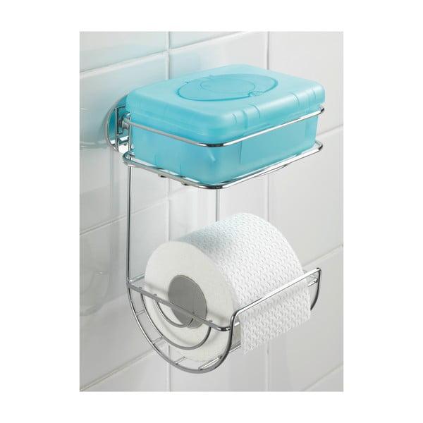 Samodržící dvoupatrový stojan na toaletní papír Wenko Turbo, až 40 kg