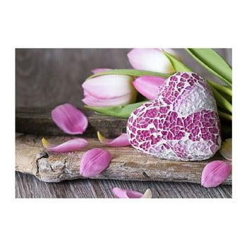 Covoraș din vinilin Purple Love, 52x75 cm imagine