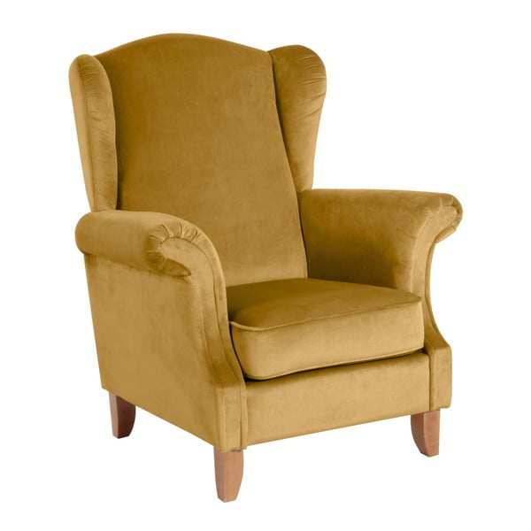 Verita Velvet sárga füles fotel - Max Winzer