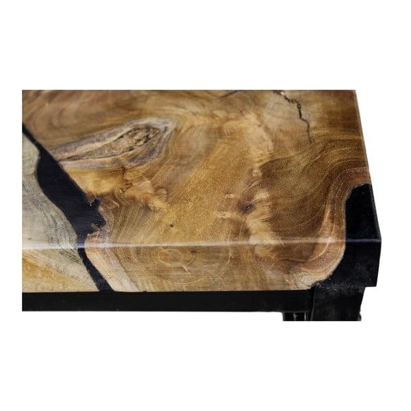 Konferenční stolek z kovu a teakového dřeva HSM collection Salon, 70 x 44 cm