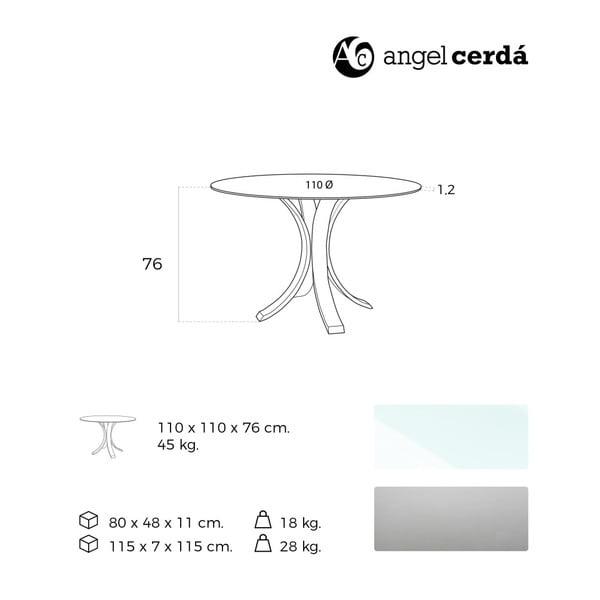 Jídelní stůl Ángel Cerdá Yakira, Ø 110 cm