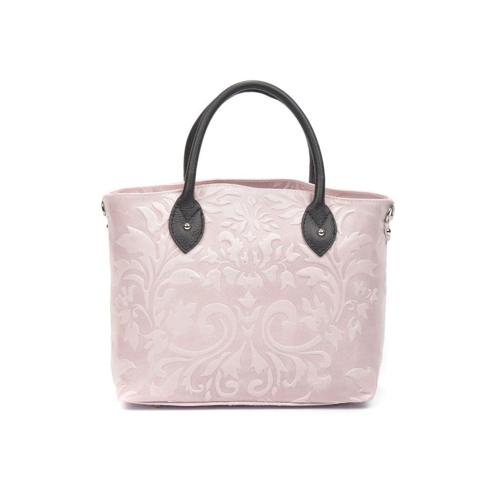 Pudrově růžová kožená kabelka Renata Corsi Cosima  2cdc5c32951