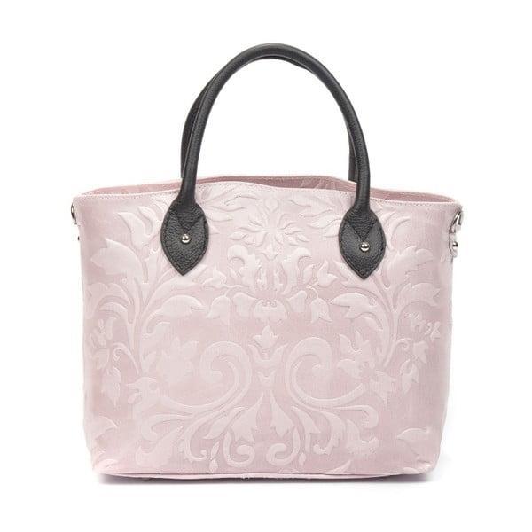 Pudrově růžová kožená kabelka Renata Corsi Cosima